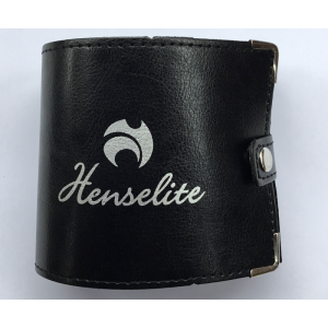 Henselite Bowls Leather Folding Scorecard Holder Black
