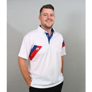 Henselite Britannia Mens Bowls Shirt: White