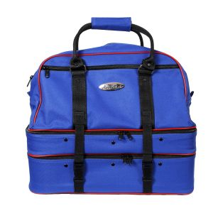 Henselite Darwin Triple Decker Maxi Bowls Bags: Royal Blue/Red