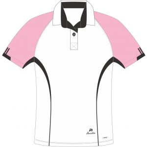 Henselite Choice of Champions Ladies Bowls Blouse: Pink/Black