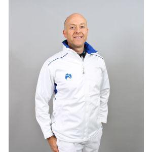 Henselite Mens Bowls Fleece Full Zip: Blue Trim