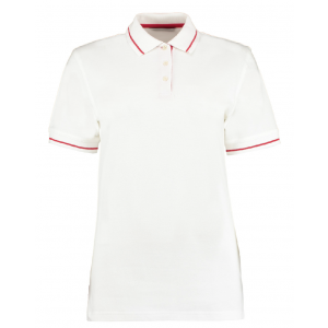 One-up St Mellion Ladies Bowls Shirt: White/Red