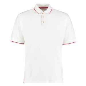 One-up St Mellion Mens Bowls Shirt: White/Red