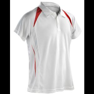 One-up Team Spirit Mens Bowls Shirt: Red