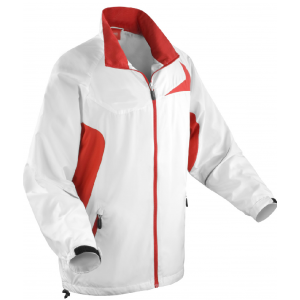 One-up Unisex Micro-Lite Team Bowls Jacket: White/Red